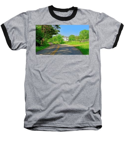 Country Roads Of America, Smith Mountain Lake, Va. Baseball T-Shirt