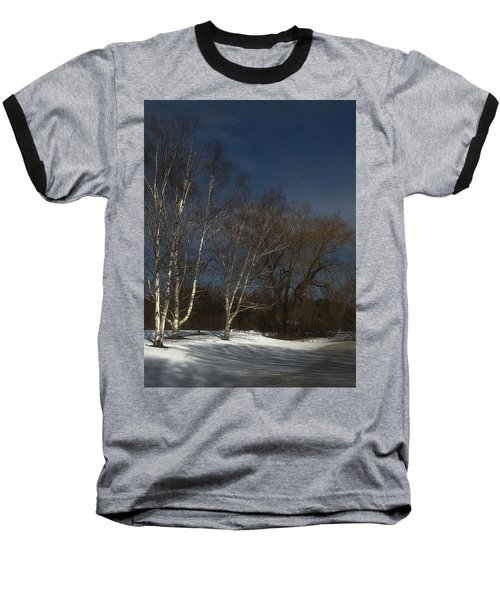 Country Roadside Birch Baseball T-Shirt