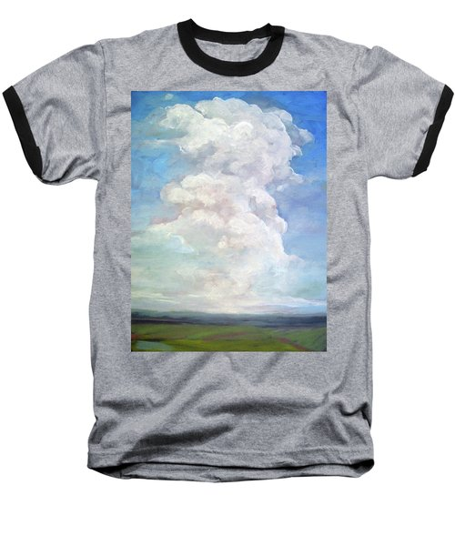 Baseball T-Shirt featuring the painting Country Sky - Painting by Linda Apple