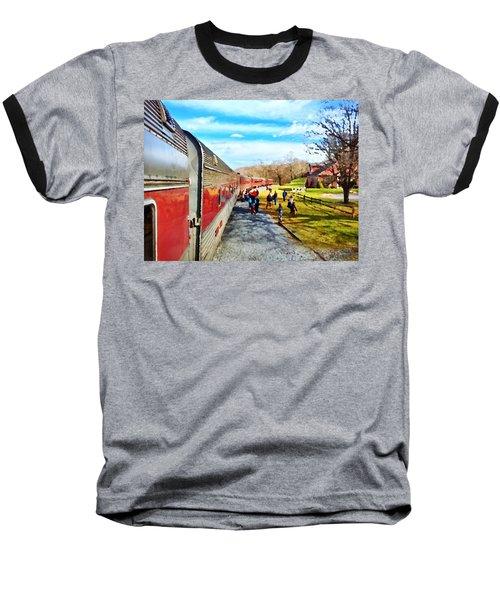 Country Train Depot Baseball T-Shirt