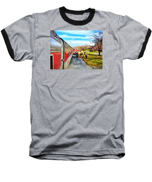 Country Train Depot Baseball T-Shirt