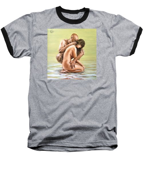 Baseball T-Shirt featuring the painting Couple by Natalia Tejera