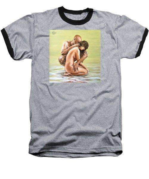 Couple Baseball T-Shirt by Natalia Tejera