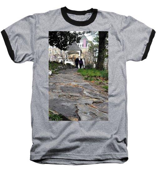 Couple On A Garden Path Baseball T-Shirt