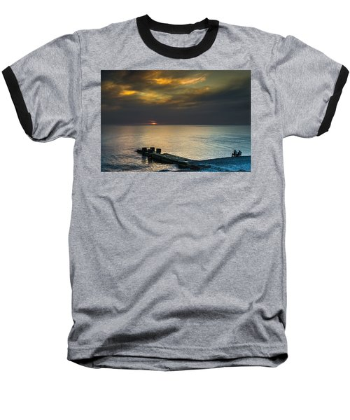 Baseball T-Shirt featuring the photograph Couple Watching Sunset by John Williams
