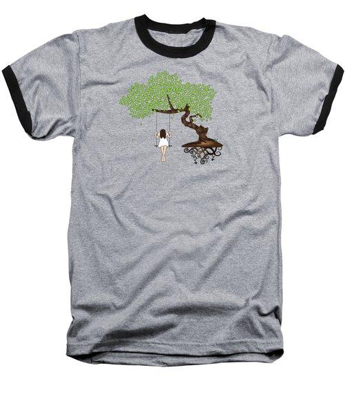 Dreamscape Baseball T-Shirt by Serena King