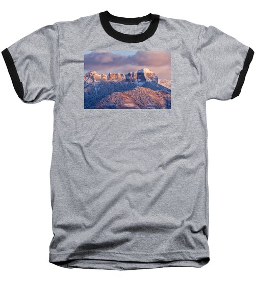 Court House Mountain Glow Baseball T-Shirt
