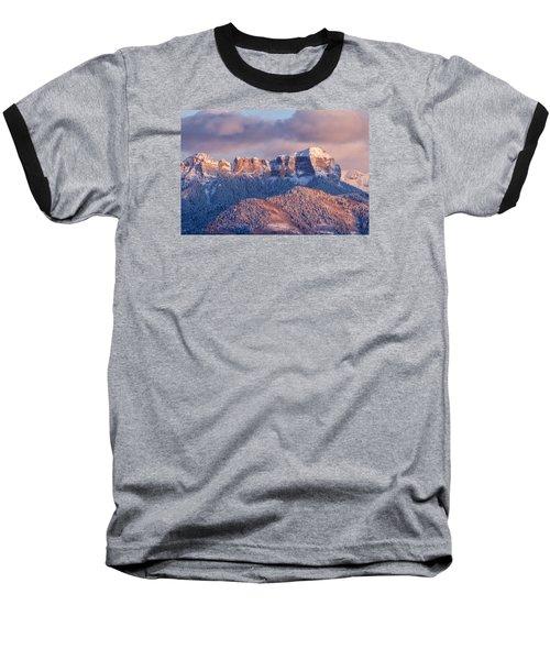 Court House Mountain Glow Baseball T-Shirt