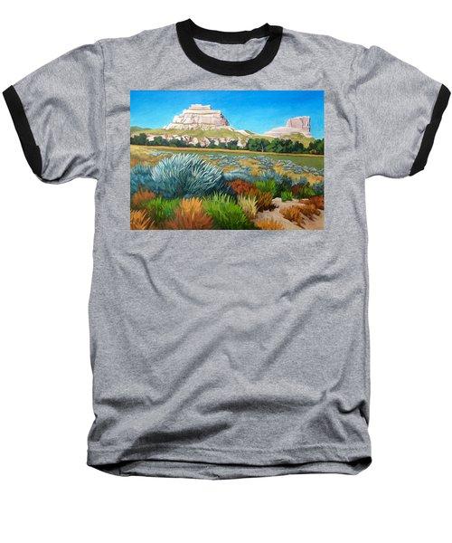 Courthouse And Jail Rocks Acrylic Baseball T-Shirt