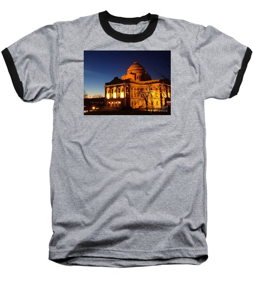 Baseball T-Shirt featuring the photograph Courthouse At Night by Christina Verdgeline
