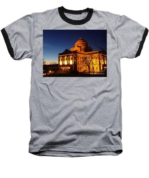 Courthouse At Night Baseball T-Shirt