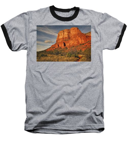 Courthouse Butte Txt Baseball T-Shirt