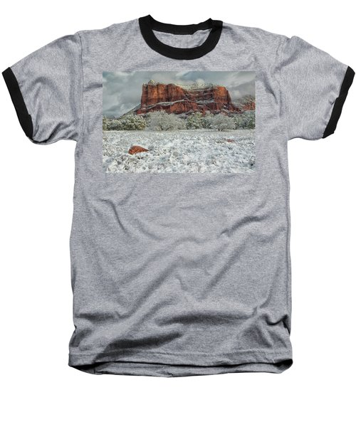 Courthouse In Winter Baseball T-Shirt