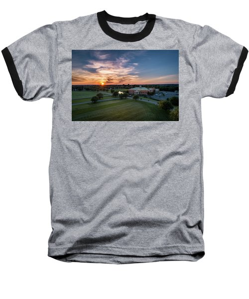 Courthouse Sunset Baseball T-Shirt