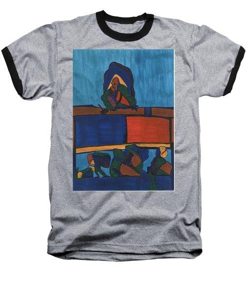 Courtroom  Baseball T-Shirt by Darrell Black