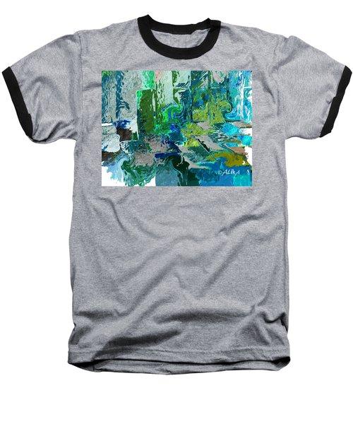 Courtyard Baseball T-Shirt by Alika Kumar