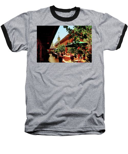 Courtyard At The Inn Baseball T-Shirt