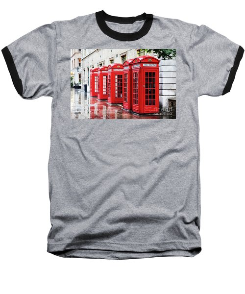 Covent Garden Phone Boxes Baseball T-Shirt