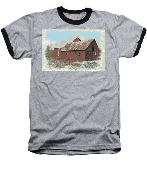 Coventry Barn Baseball T-Shirt by John Selmer Sr