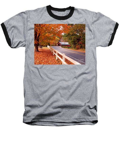 Covered Bridge In Brattleboro Vt Baseball T-Shirt
