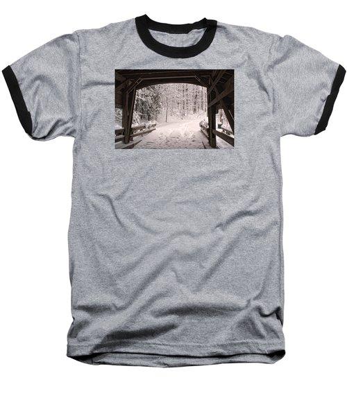 Covered Bridge Baseball T-Shirt by Michael McGowan