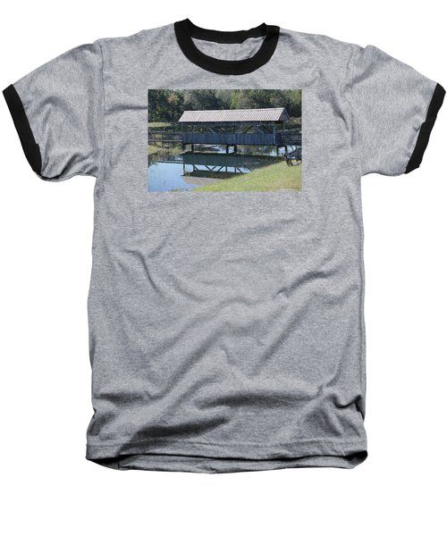 Baseball T-Shirt featuring the photograph Covered Bridge Painting by Debra     Vatalaro