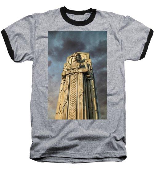 Covered Wagon Guardian On Hope Memorial Bridge Baseball T-Shirt