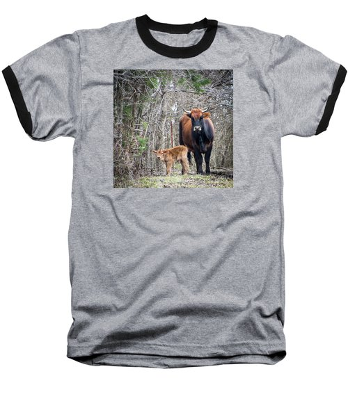 Cow And Calf Baseball T-Shirt