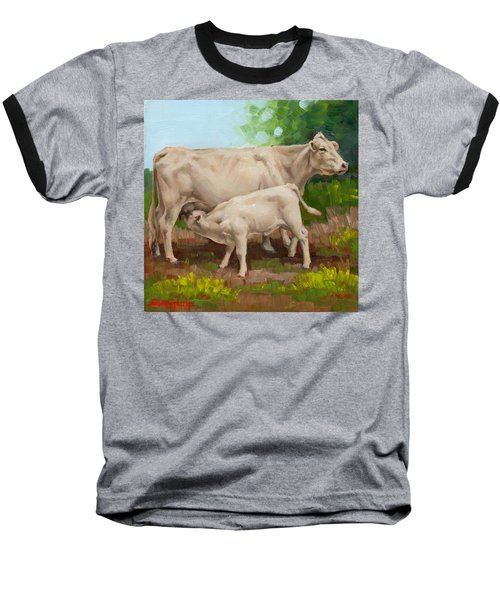 Cow  And Calf In Miniature  Baseball T-Shirt