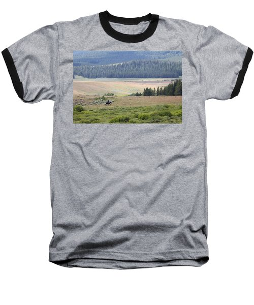 Cow Camp View Baseball T-Shirt