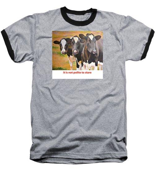 Cow Holstein Trio Baseball T-Shirt