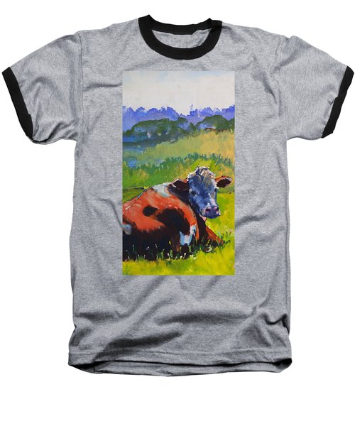 Cow Lying Down On A Sunny Day Baseball T-Shirt
