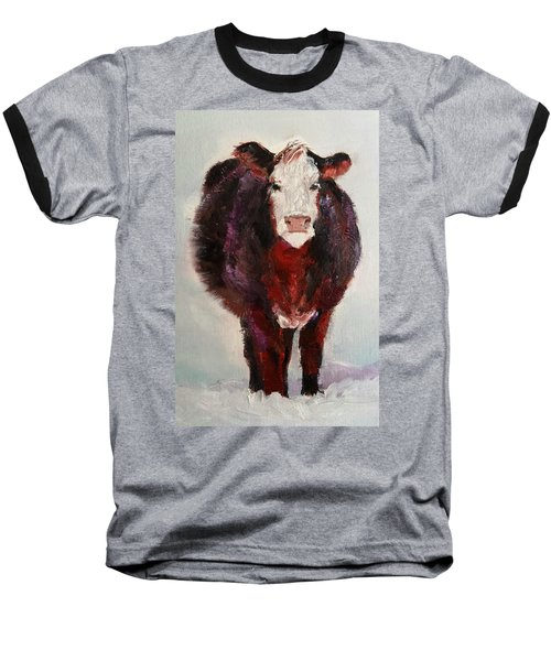 Cow Painting  Baseball T-Shirt by Michele Carter
