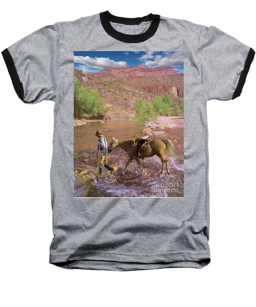Cowboy And Horse Baseball T-Shirt