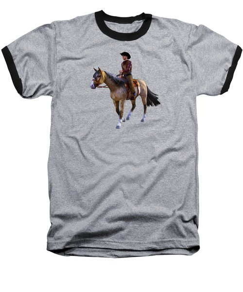 Baseball T-Shirt featuring the digital art Cowboy Blue by Methune Hively
