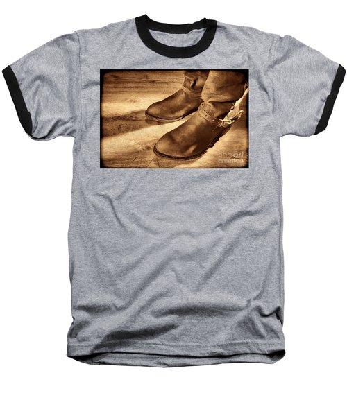 Cowboy Boots On Saloon Floor Baseball T-Shirt