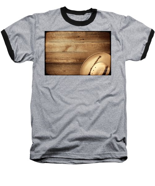 Cowboy Hat On Wood Table Baseball T-Shirt