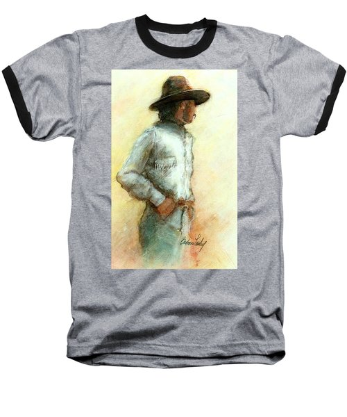 Cowboy In Thought Baseball T-Shirt