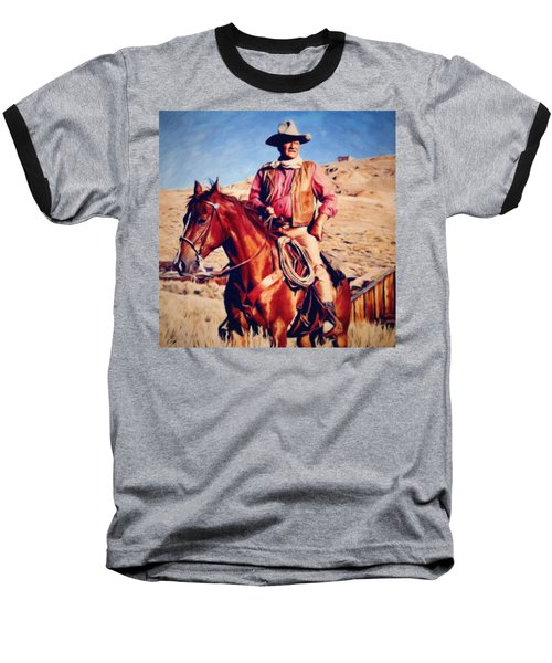 Cowboy John Wayne Baseball T-Shirt