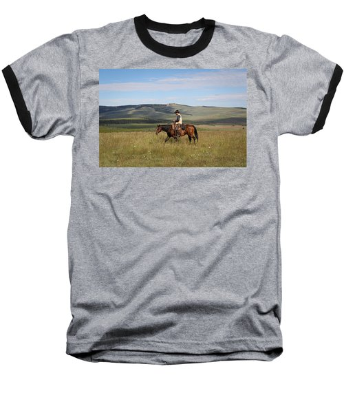 Cowboy Landscapes Baseball T-Shirt