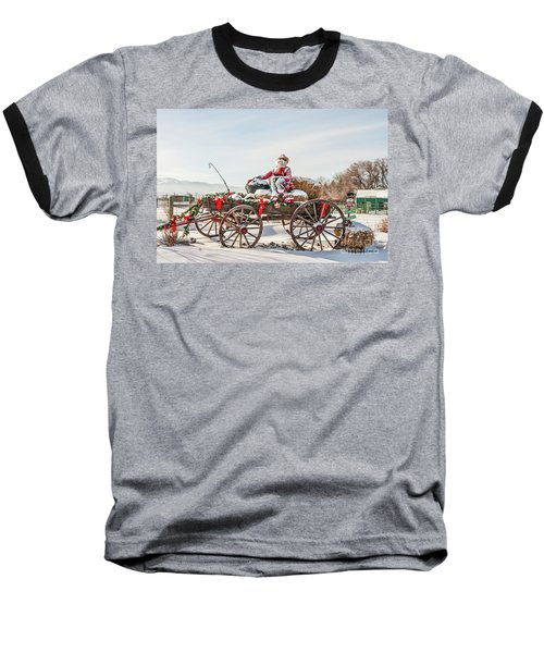 Cowboy Santa Taking A Quick Break Baseball T-Shirt