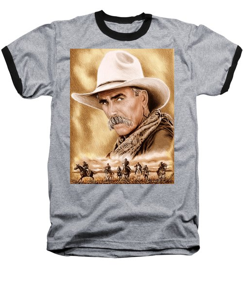 Cowboy Sepia Edit Baseball T-Shirt