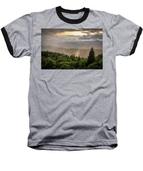 Cowee Mountains Sunset 2 Baseball T-Shirt