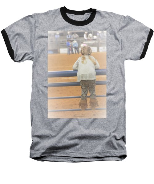 Baseball T-Shirt featuring the photograph Cowgirl Hatchling by John Glass