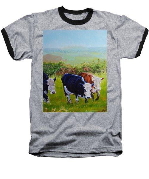 Cows And English Landscape Baseball T-Shirt