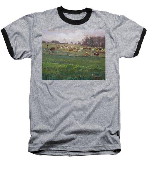 Cows In A Farm, Georgetown  Baseball T-Shirt