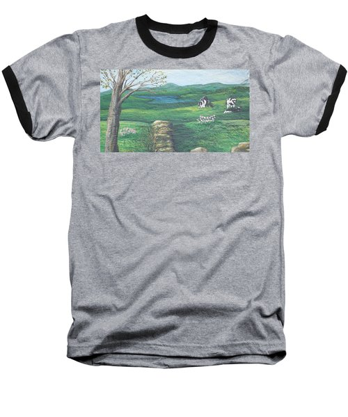 Cows In Field Baseball T-Shirt
