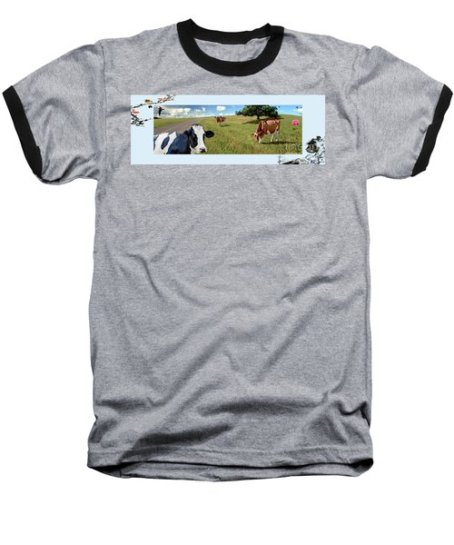 Cows In Field, Ver 4 Baseball T-Shirt