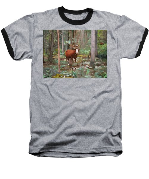 Cows In The Woods Baseball T-Shirt