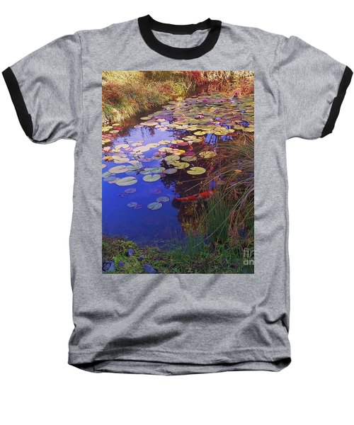 Baseball T-Shirt featuring the photograph Coy Koi by Suzanne McKay
